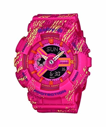CASIO Damen Analog-Digital Quarz Smart Watch Armbanduhr mit Plastik Armband BA-110TX-4AER - 1