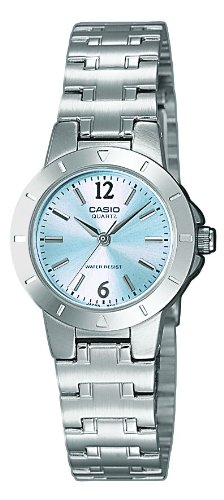 Casio Damen Analog Quarz mit Edelstahl Armbanduhr LTP 1177PA 2A - 1