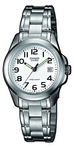 Casio Damen Analog Quarz mit Edelstahl Armbanduhr LTP 1259PD 7B - 1