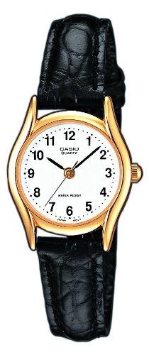 Casio Damen Analog Quarz mit Leder Armbanduhr LTP 1154PQ 7B - 1