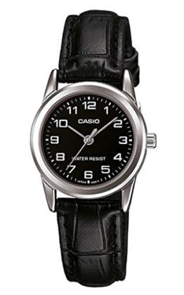 CASIO Damen-Armbanduhr Analog Quarz Leder LTP-V001L-1 - 1