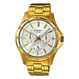 Casio Damen-Armbanduhr Chronograph Quarz Edelstahl SHE-3801GD-7AEF - 1