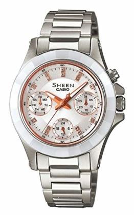 Casio Damen-Armbanduhr Sheen Analog Quarz Edelstahl SHE-3503SG-7AER - 1
