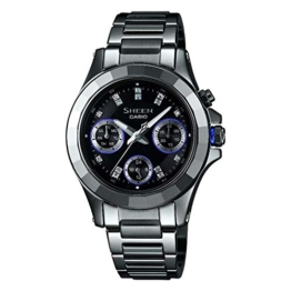 Casio Damen-Armbanduhr XS Chronograph Quarz Edelstahl SHE-3503D-8AER - 1