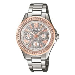 Casio Damen-Armbanduhr XS Chronograph Quarz Edelstahl SHE-3504SG-7AUER - 1