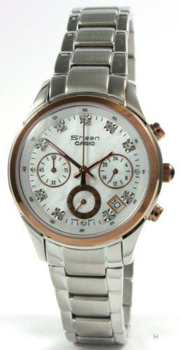 Casio Damen-Armbanduhr XS Chronograph Quarz Edelstahl SHN-5003PS-7AEF - 1