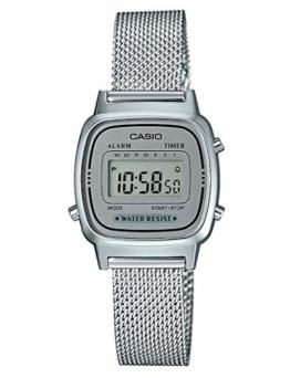 Casio Damen Digital Quarz Uhr mit massives Edelstahl Armband LA670WEM-7EF - 1