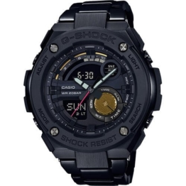 Casio GST-200RBG-1AER horloge heren - zwart - edelstaal PVD zwart - 1