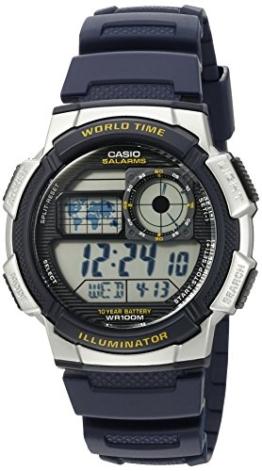 Casio Herren-'10Jahres Batterie' Quarz Kunstharz Automatik Uhr, Farbe: Blau (Modell: ae1000W-2av) - 1