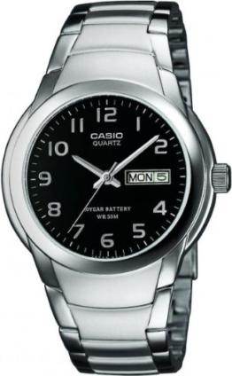 Casio Herren-Armbanduhr Analog Quarz Edelstahl MTP-1229D-1AVEF - 1
