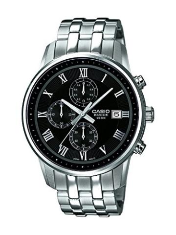 Casio Herren Chronograph Quarz Uhr mit Edelstahl Armband BEM-511D-1AVEF - 1