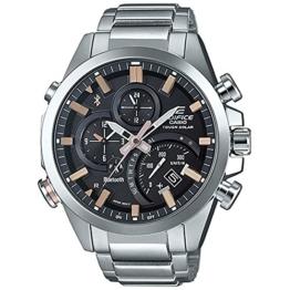 Casio Herren Chronograph Quarz Uhr mit Edelstahl Armband EQB-500D-1A2ER - 1