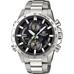 CASIO Herren Chronograph Quarz Uhr mit Edelstahl Armband EQB-900D-1AER - 1