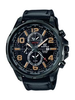 CASIO Herren Chronograph Quarz Uhr mit Leder Armband EFR-302L-1AVUEF - 1