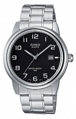 Casio Herren Uhr Analog Quarz mit Edelstahlarmband MTP-1221A-1AVEF - 1