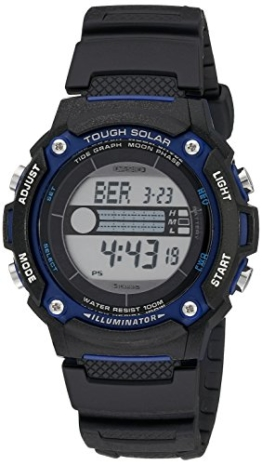 Casio Herren WS210H-1AVCF Tough Solar Powered Tide and Moon Digitale Sport Watch - 1