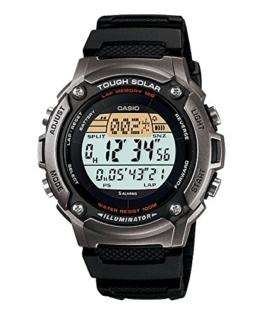Casio W-S200H-1A Herren-Armbanduhr, automatisch, digital, Armband aus schwarzem Kunstharz - 1