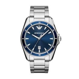 Emporio Armani Herren Analog Quarz Uhr mit Edelstahl Armband AR11100 - 1
