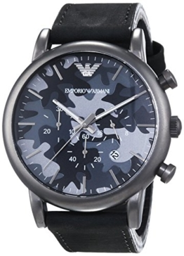 Emporio Armani Herren-Armbanduhr XL Chronograph Quarz Leder AR1816 - 1