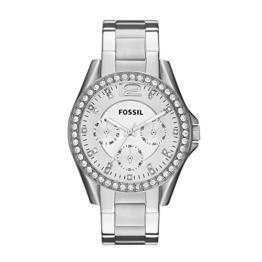Fossil Damen Analog Quarz Uhr mit Edelstahl Armband ES3202 - 1