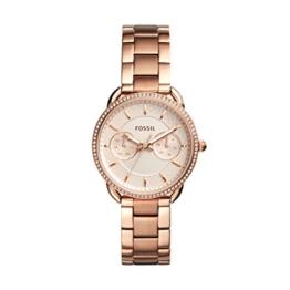 Fossil Damen Analog Quarz Uhr mit Edelstahl Armband ES4264 - 1