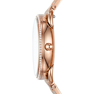 Fossil Damen Analog Quarz Uhr mit Edelstahl Armband ES4264 - 2