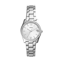 Fossil Damen Analog Quarz Uhr mit Edelstahl Armband ES4317 - 1