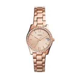 Fossil Damen Analog Quarz Uhr mit Edelstahl Armband ES4318 - 1