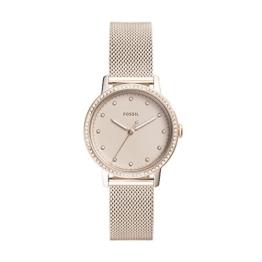 Fossil Damen Analog Quarz Uhr mit Edelstahl Armband ES4364 - 1