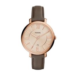 Fossil Damen Analog Quarz Uhr mit Leder Armband ES3707 - 1