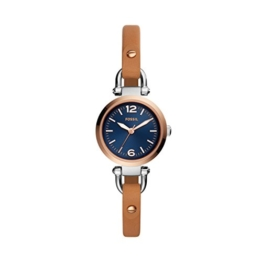 Fossil Damen Analog Quarz Uhr mit Leder Armband ES4277 - 1