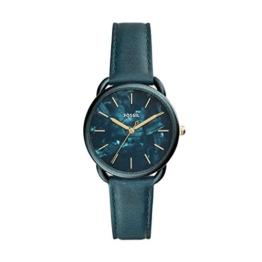 Fossil Damen Analog Quarz Uhr mit Leder Armband ES4423 - 1