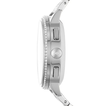 Fossil Damen Hybrid Smartwatch Q Gazer - Edelstahl - Silber – Elegante analoge Damenuhr mit vielen Smartfunktionen & bestückt mit glitzernden Steinchen – Für Android & iOS - 2