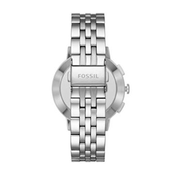 Fossil Damen Hybrid Smartwatch Q Gazer - Edelstahl - Silber – Elegante analoge Damenuhr mit vielen Smartfunktionen & bestückt mit glitzernden Steinchen – Für Android & iOS - 3