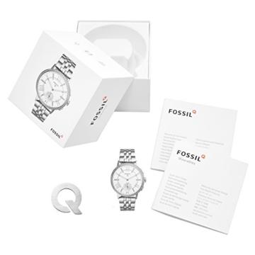 Fossil Damen Hybrid Smartwatch Q Gazer - Edelstahl - Silber – Elegante analoge Damenuhr mit vielen Smartfunktionen & bestückt mit glitzernden Steinchen – Für Android & iOS - 4