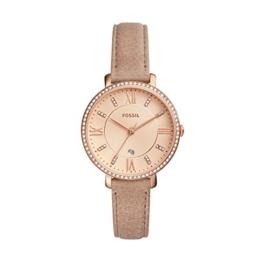 Fossil Damen Quarz Uhr mit Leder Armband ES4292 - 1
