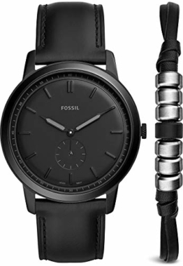 Fossil FS5500SET The Minimalist - Mono Uhr Lederarmband 5 bar Analog Schwarz - 1