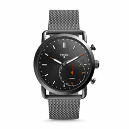 Fossil Herren Analog Quarz Smart Watch Armbanduhr mit Edelstahl Armband FTW1161 - 1