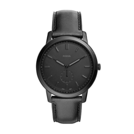 Fossil Herren Analog Quarz Smart Watch Armbanduhr mit Leder Armband FS5447 - 1