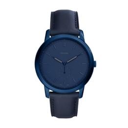 Fossil Herren Analog Quarz Smart Watch Armbanduhr mit Leder Armband FS5448 - 1