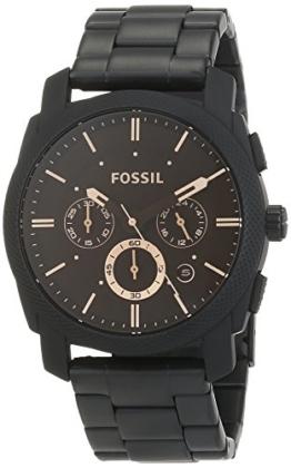 Fossil Herren analog Quarz Uhr mit Edelstahl Armband FS4682 - 1