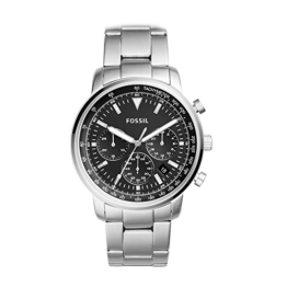Fossil Herren Analog Quarz Uhr mit Edelstahl Armband FS5412 - 1
