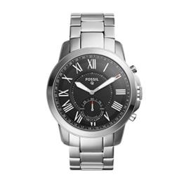 Fossil Herren Analog Quarz Uhr mit Edelstahl Armband FTW1158 - 1
