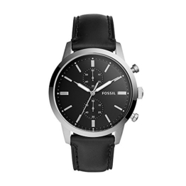 Fossil Herren Analog Quarz Uhr mit Leder Armband FS5396 - 1