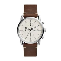 Fossil Herren Analog Quarz Uhr mit Leder Armband FS5402 - 1