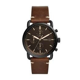 Fossil Herren Analog Quarz Uhr mit Leder Armband FS5403 - 1