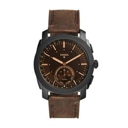 Fossil Herren Analog Quarz Uhr mit Leder Armband FTW1163 - 1