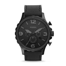 Fossil Herren Analog Quarz Uhr mit Leder Armband JR1354 - 1