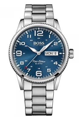 Hugo Boss Herren-Armbanduhr 1513329, Stahl/Blau - 1