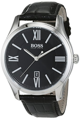 Hugo Boss Herren-Armbanduhr Ambassador Analog Quarz Leder 1513022 - 1